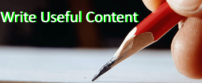 Write Useful content
